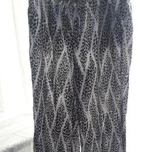 Jm linen animal print pants